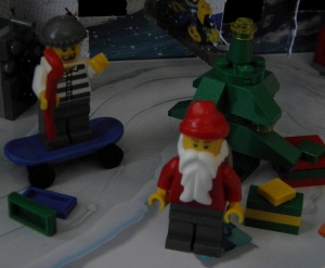 Look out! Behind you Santa!