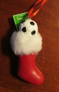 Not a soccer mom. But this is the ornament the kids got me for Christmas.